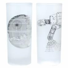 Star Wars Glass 2-pakning Death Star & AT-AT