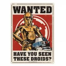 Star Wars Skilt Metal Droids