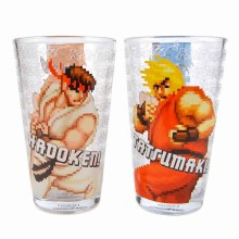 Street Fighter Store Glass Ryu & Ken