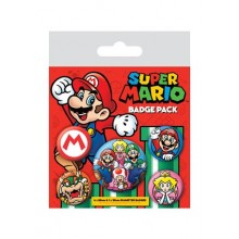 Super Mario Buttons 5 Stk