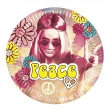 Tallerkener Hippie 60-tall 6-pakning