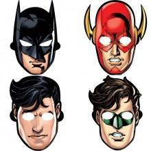 Maske Justice League 8-Pakning