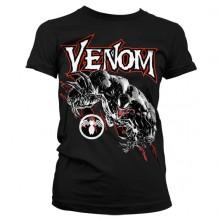 T-Skjorte Venom Dame (Sort)