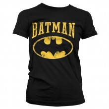 T-Skjorte Vintage Batman Dame (Sort)