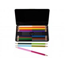Tofargede Fargepenner 12-pakning