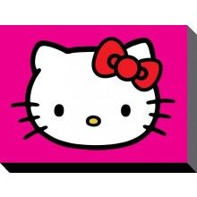 Hello Kitty Canvas Lilla 60 X 80 Cm