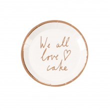 Tallerkener We All Love Cake 12-pakning