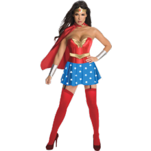 KOSTYME WONDER WOMAN KORSETT