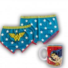 Wonder Woman Kopp- Og Shortssett