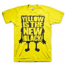 T-Skjorte Yellow Is The New Black