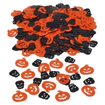 Konfetti Pumpa och Dödskallar Halloween