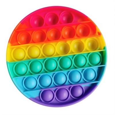 Pop it Fidget Toy Rund Regnbågsfärgad