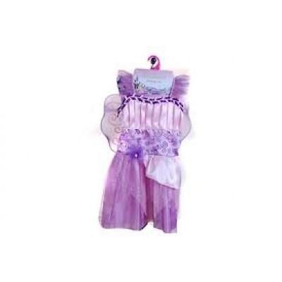 Rosa prinsessklänning med vingar